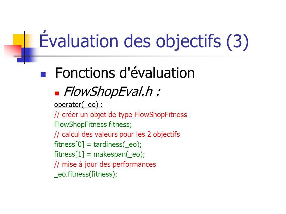 Évaluation des objectifs (3)