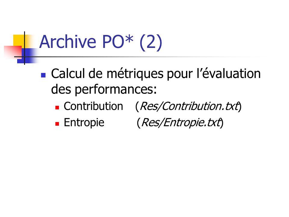 Archive PO* (2) Calcul de métriques pour l'évaluation des performances: Contribution (Res/Contribution.txt)