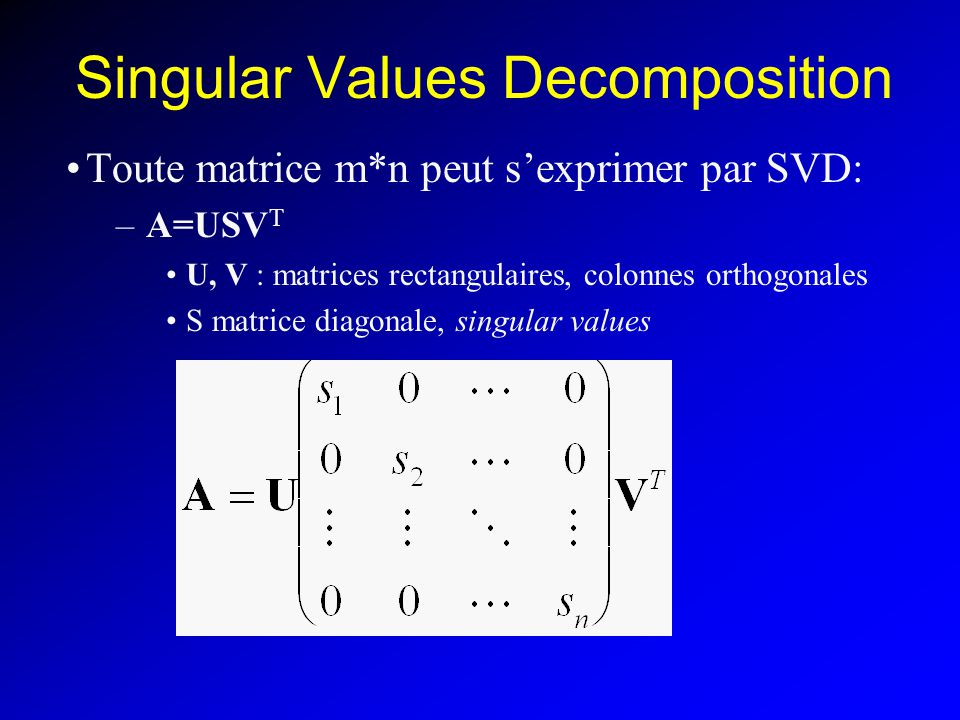 Singular Values Decomposition