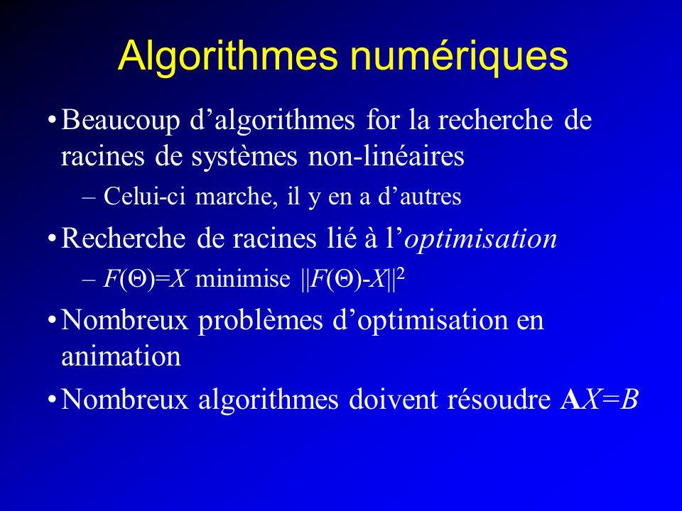 Algorithmes numériques