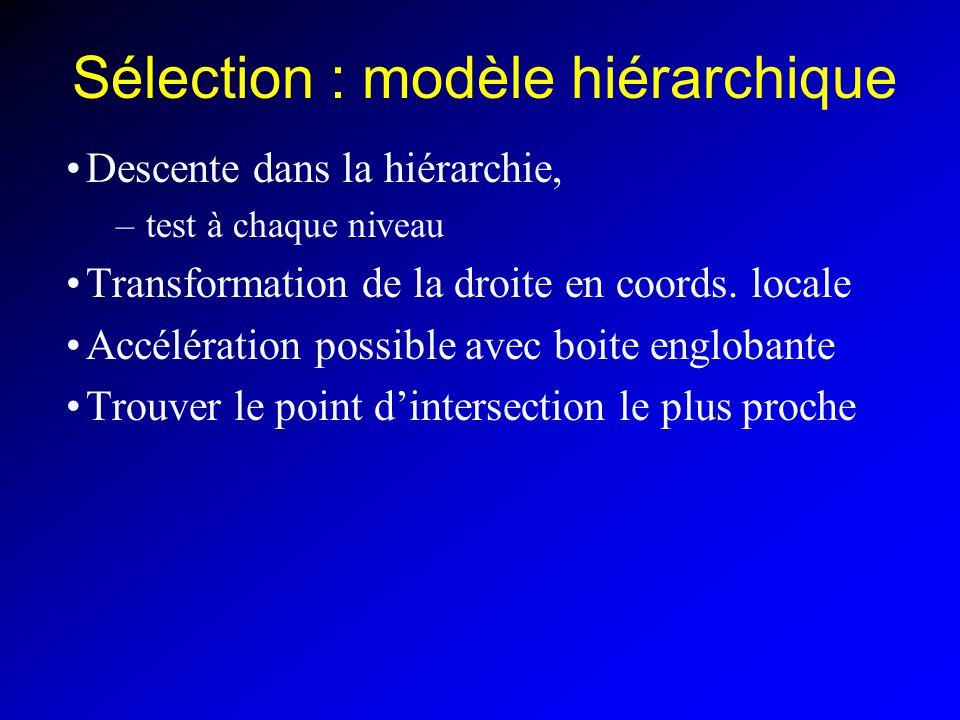 Sélection : modèle hiérarchique