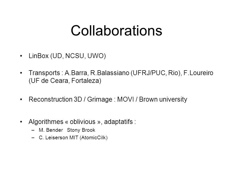 Collaborations LinBox (UD, NCSU, UWO)
