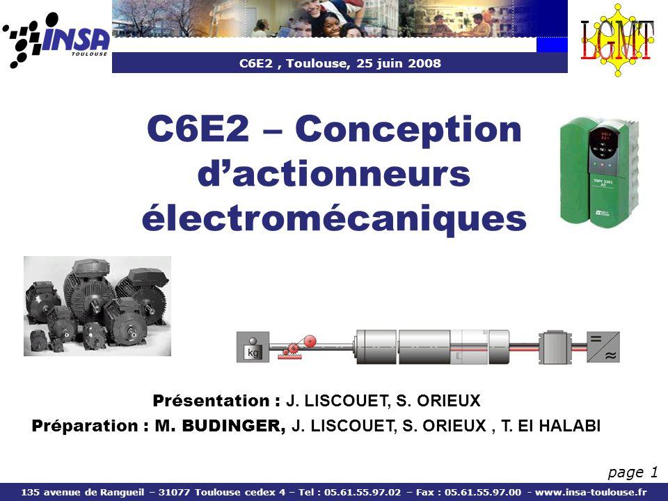 C6E2 – Conception d'actionneurs électromécaniques