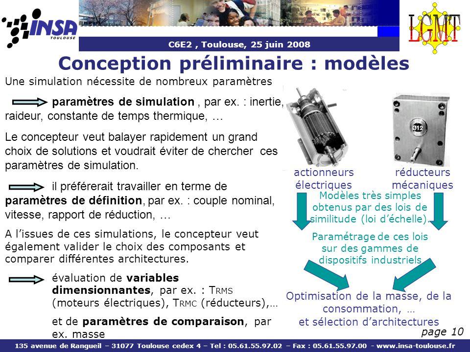 Conception préliminaire : modèles