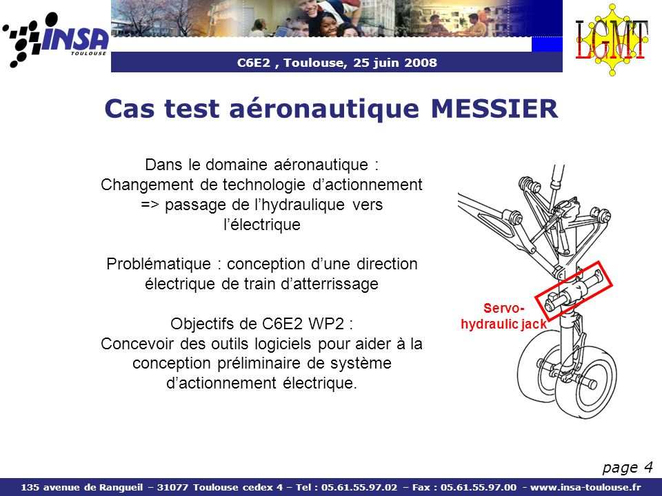Cas test aéronautique MESSIER