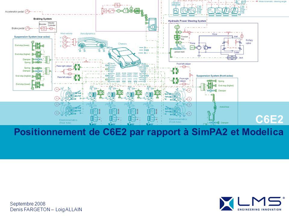 C6E2 Positionnement de C6E2 par rapport à SimPA2 et Modelica