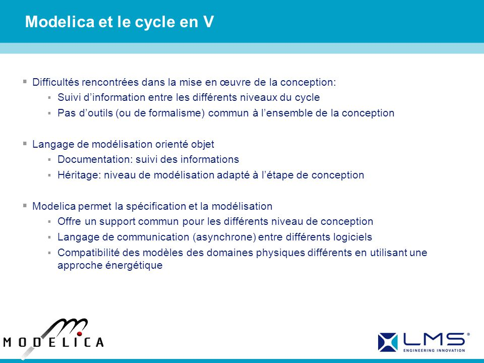 Modelica et le cycle en V