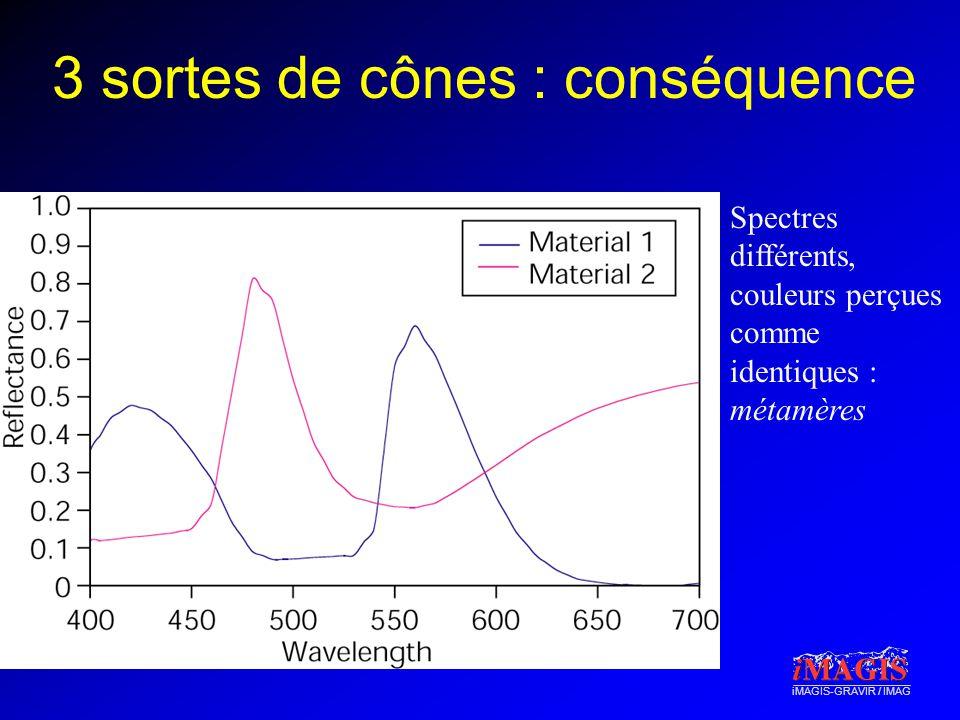 3 sortes de cônes : conséquence