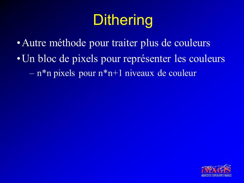 Dithering Autre méthode pour traiter plus de couleurs