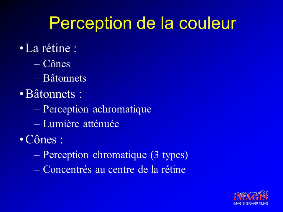 Perception de la couleur