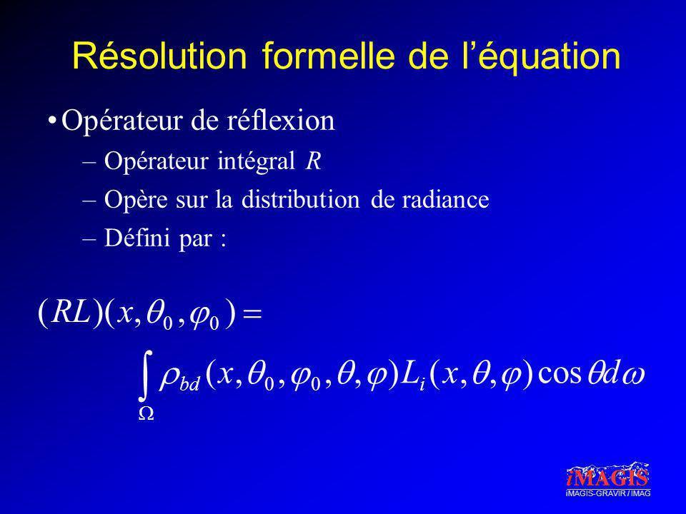 Résolution formelle de l'équation