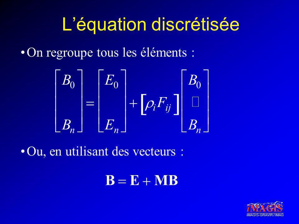 L'équation discrétisée