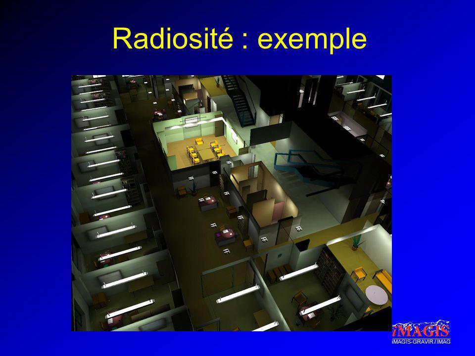 Radiosité : exemple