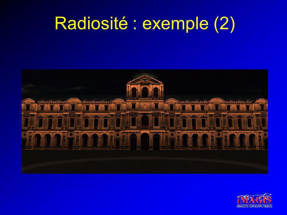 Radiosité : exemple (2)
