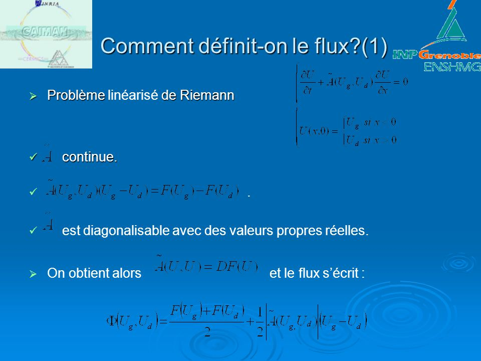 Comment définit-on le flux (1)