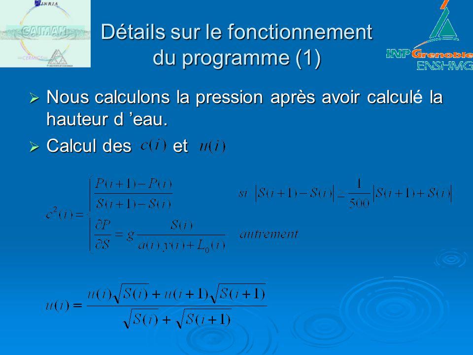 Détails sur le fonctionnement du programme (1)