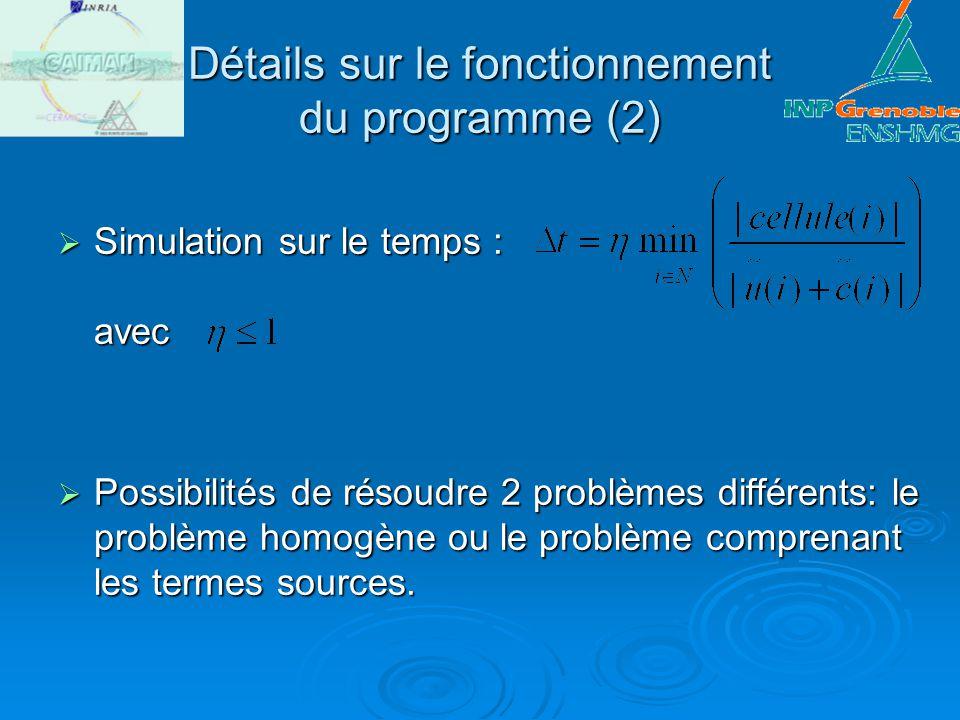 Détails sur le fonctionnement du programme (2)