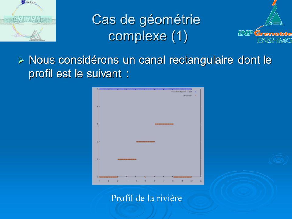 Cas de géométrie complexe (1)