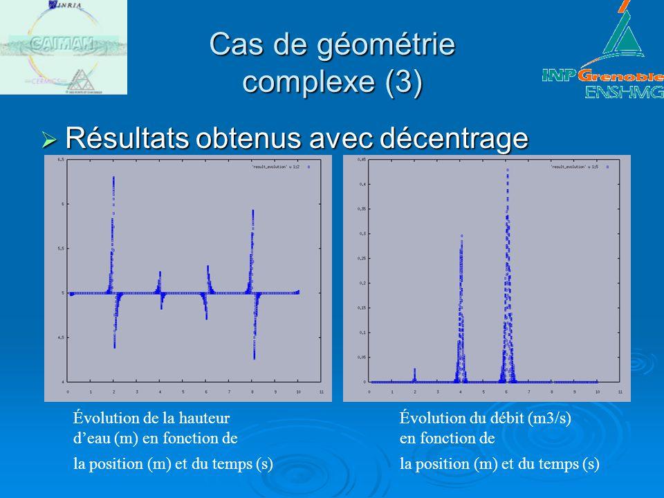 Cas de géométrie complexe (3)