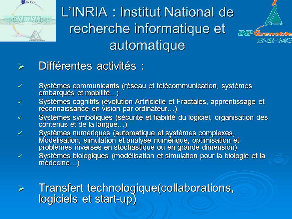 L'INRIA : Institut National de recherche informatique et automatique