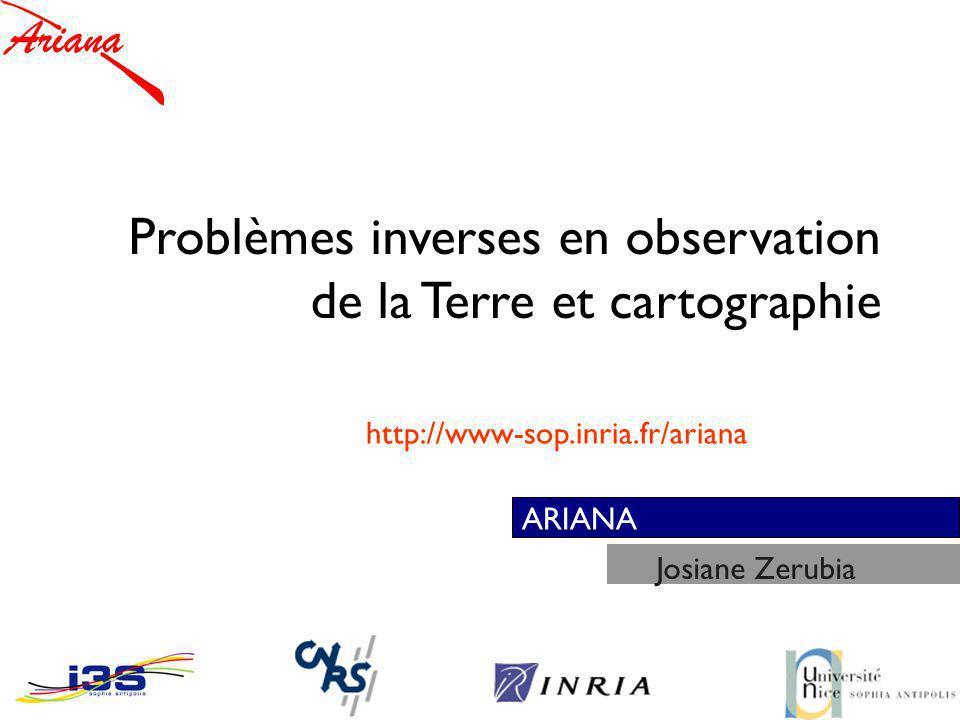 Problèmes inverses en observation de la Terre et cartographie