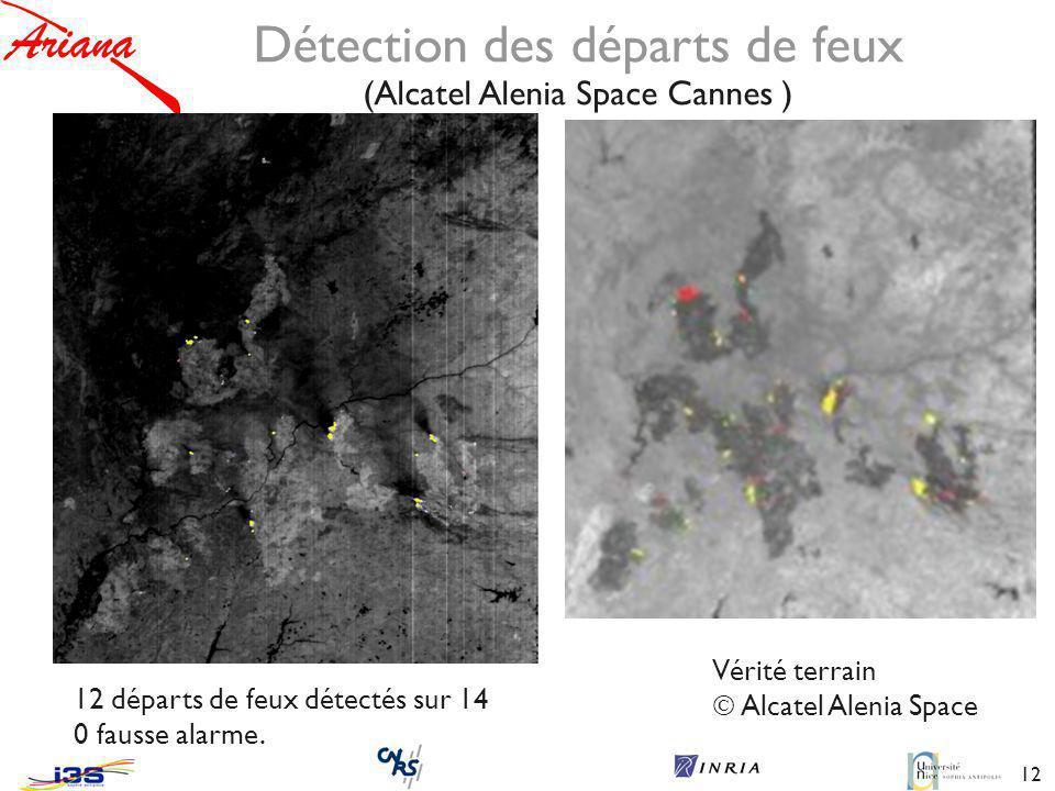 Détection des départs de feux (Alcatel Alenia Space Cannes )