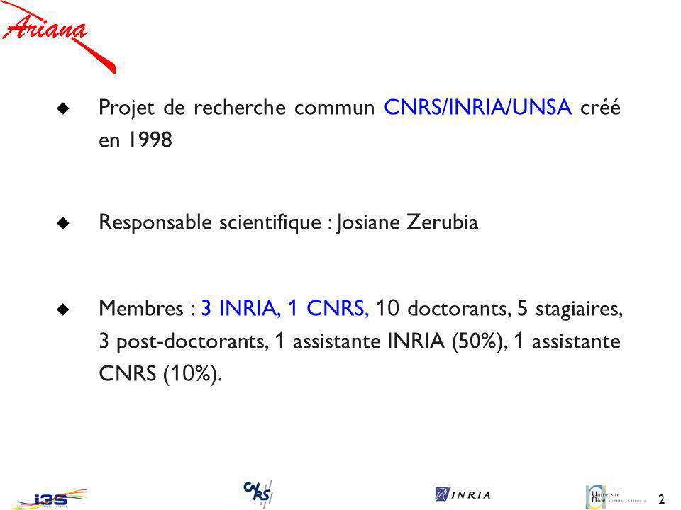 Projet de recherche commun CNRS/INRIA/UNSA créé en 1998