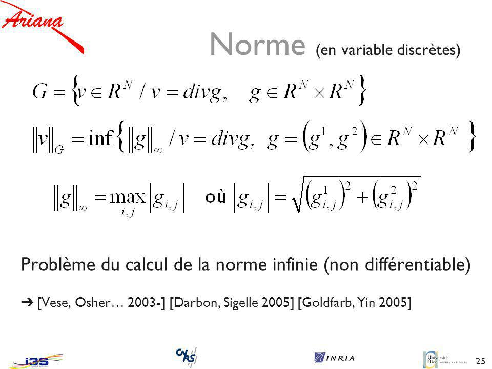 Norme (en variable discrètes)