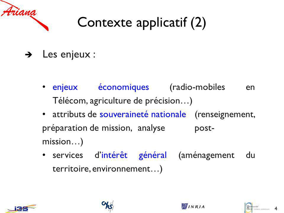 Contexte applicatif (2)