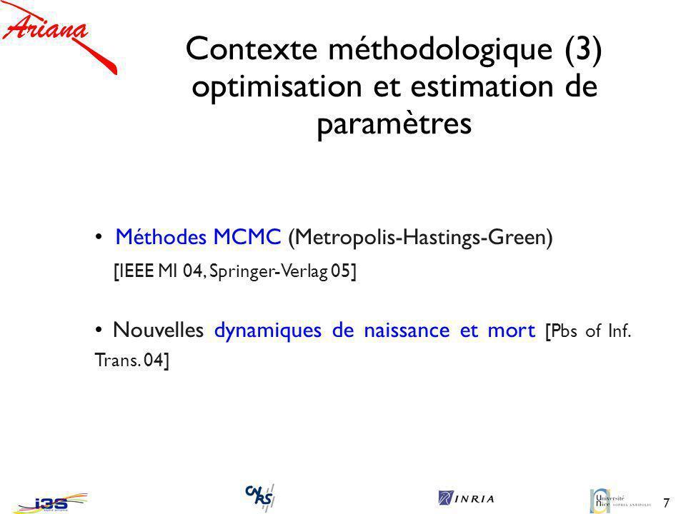 Contexte méthodologique (3) optimisation et estimation de paramètres