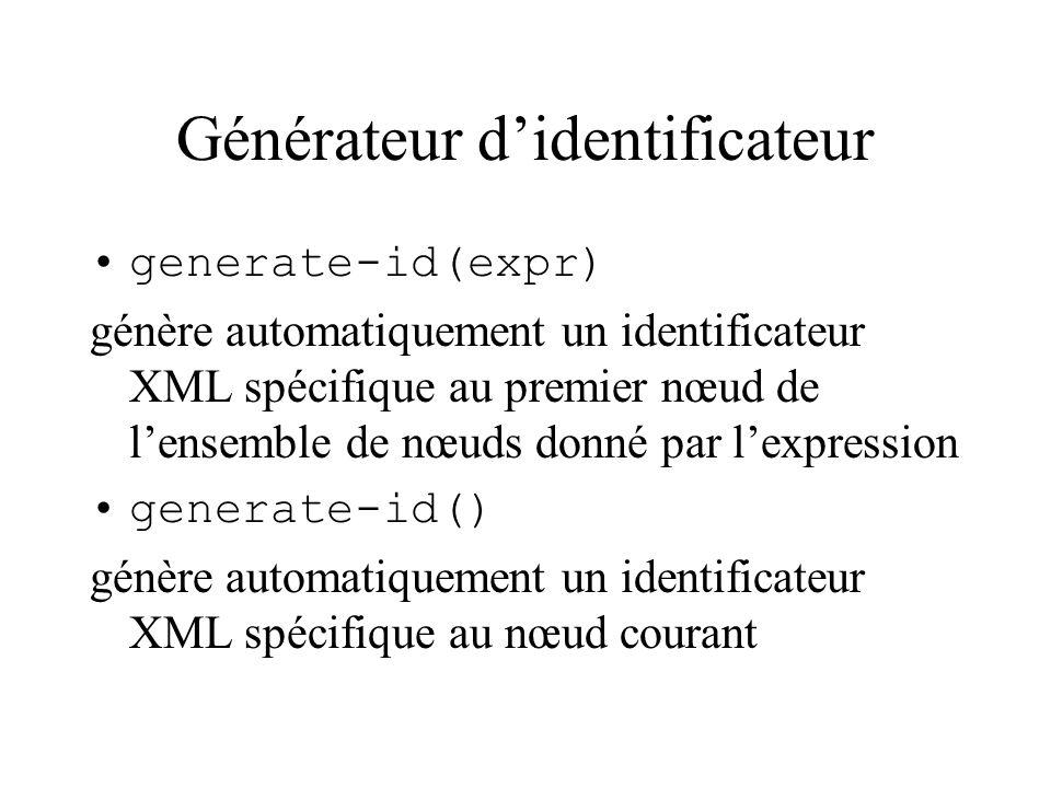 Générateur d'identificateur
