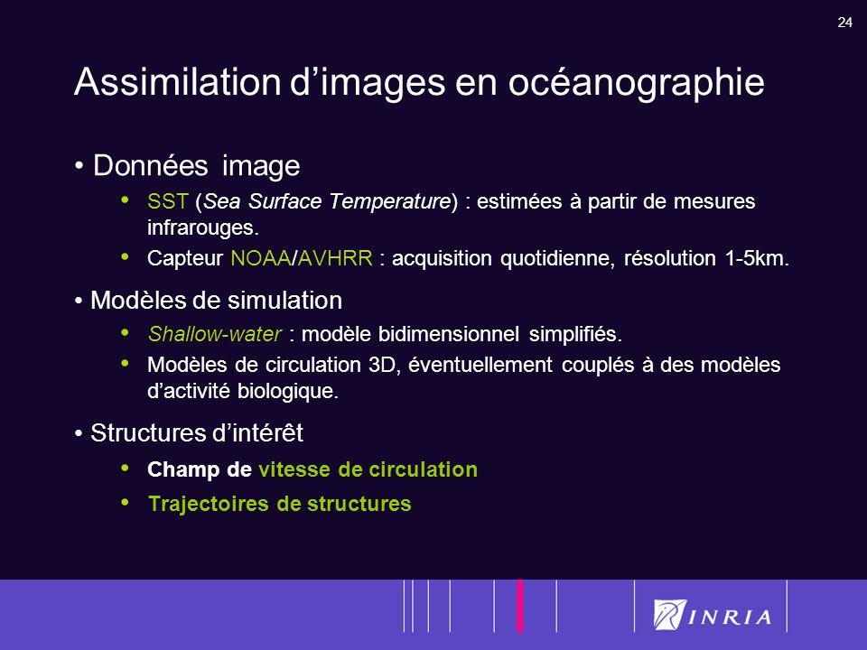 Assimilation d'images en océanographie
