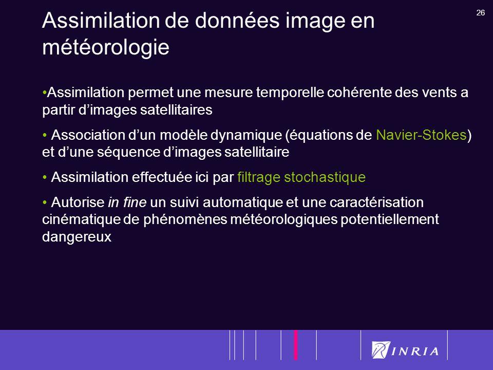 Assimilation de données image en météorologie