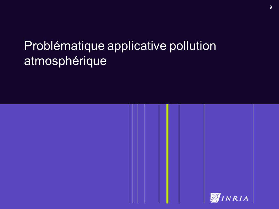 Problématique applicative pollution atmosphérique