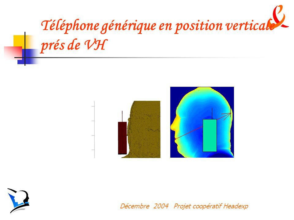 Téléphone générique en position verticale prés de VH