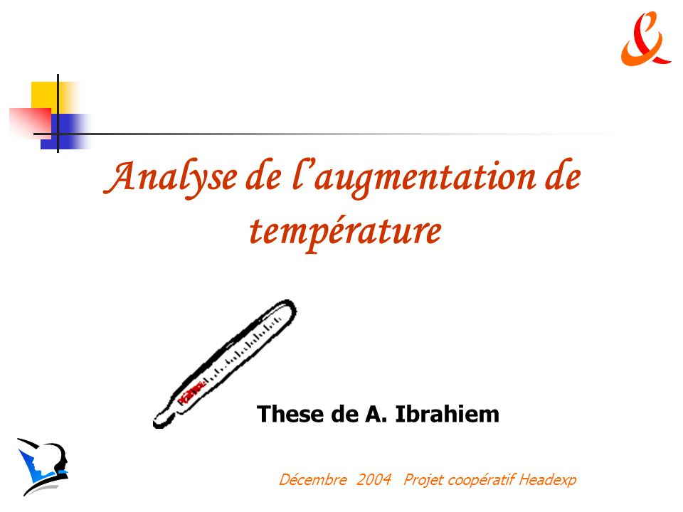 Analyse de l'augmentation de température