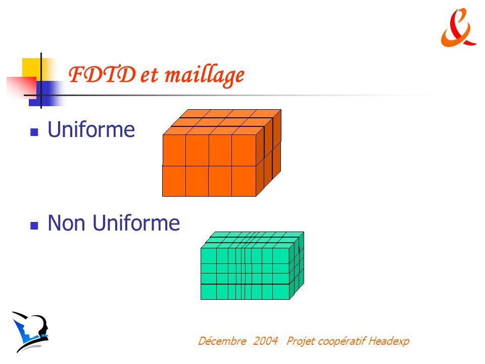 FDTD et maillage Uniforme Non Uniforme