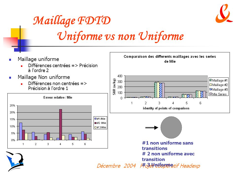 Maillage FDTD Uniforme vs non Uniforme