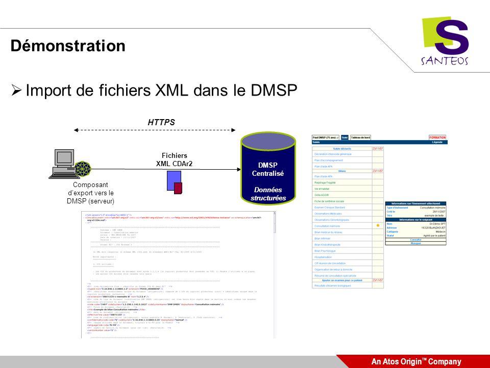 Composant d'export vers le DMSP (serveur)