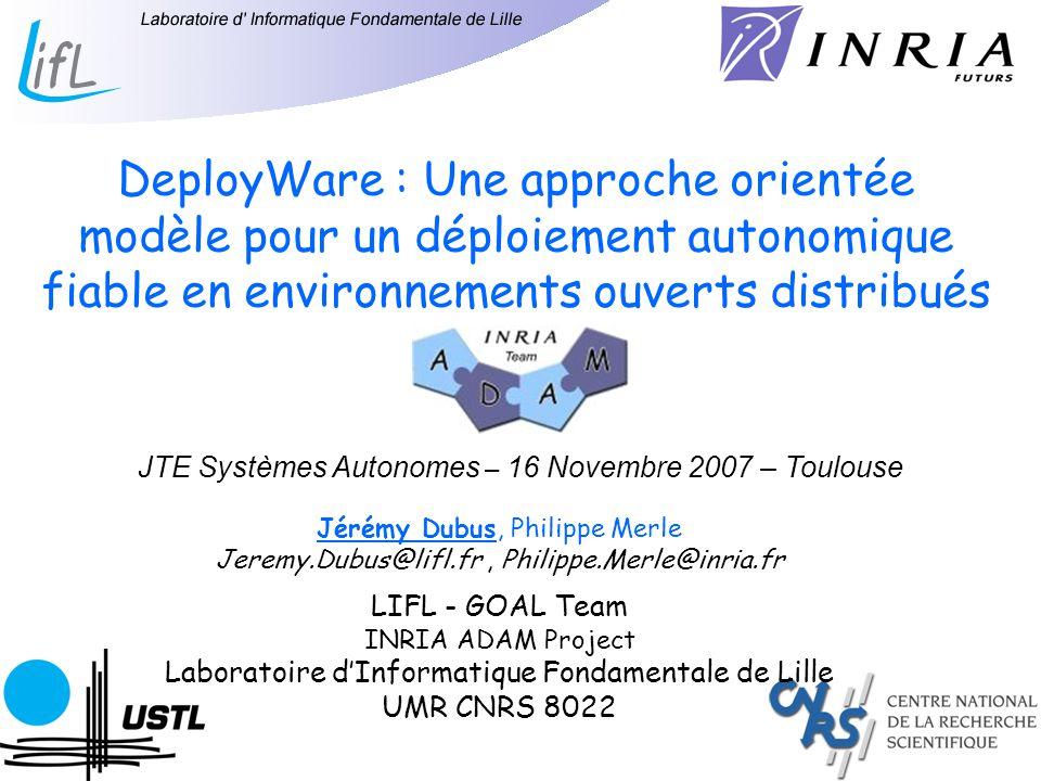 DeployWare : Une approche orientée modèle pour un déploiement autonomique fiable en environnements ouverts distribués