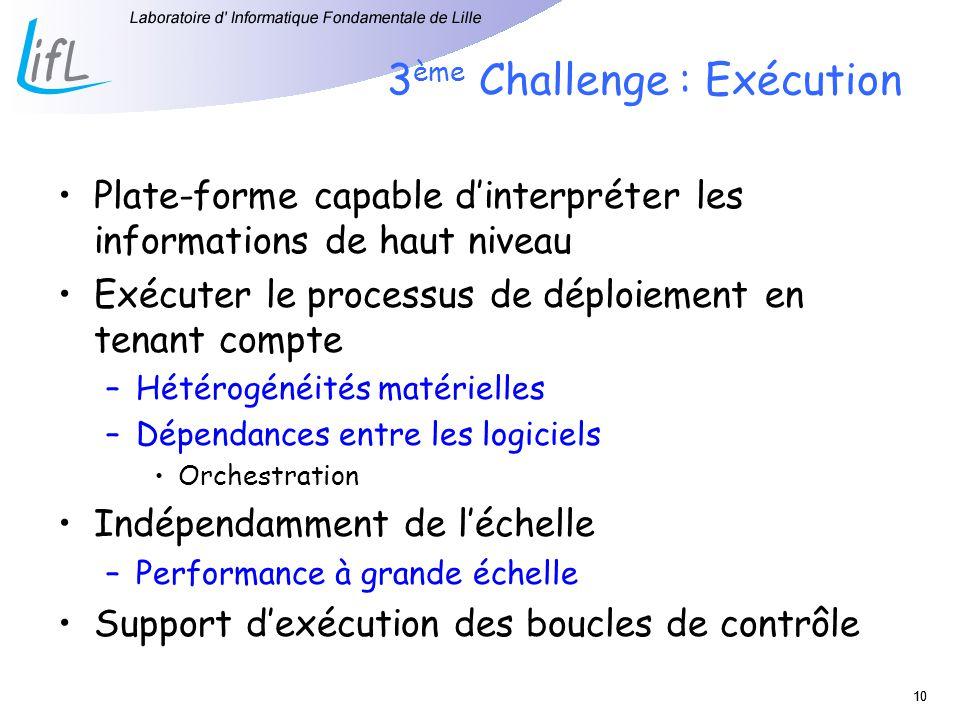 3ème Challenge : Exécution