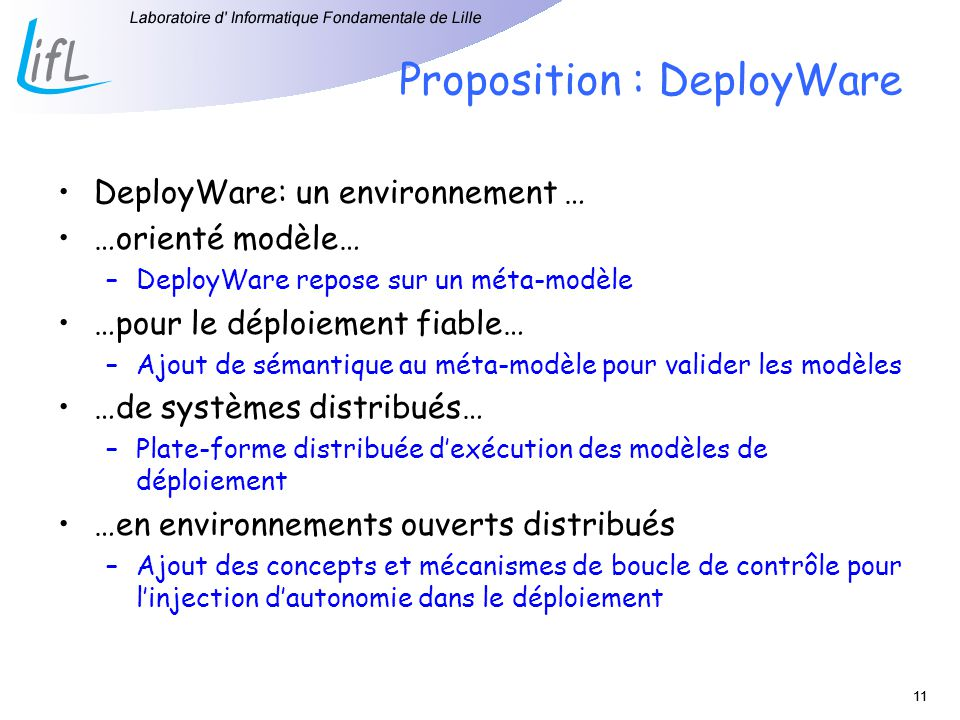 Proposition : DeployWare