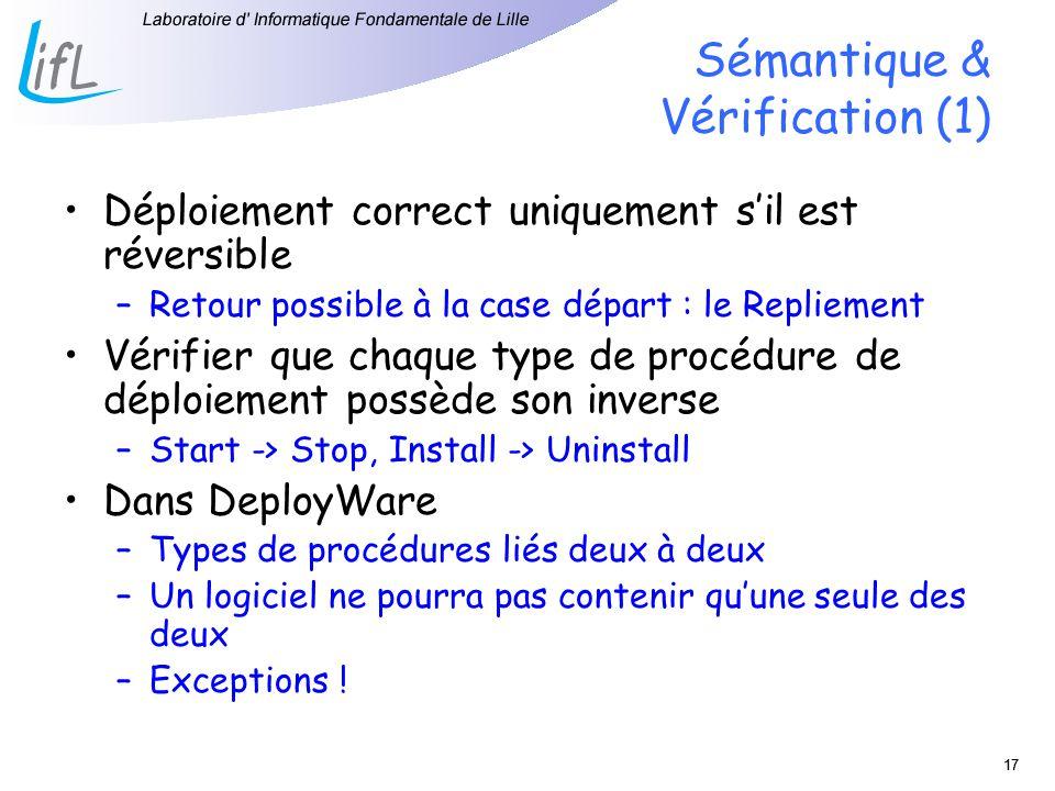 Sémantique & Vérification (1)