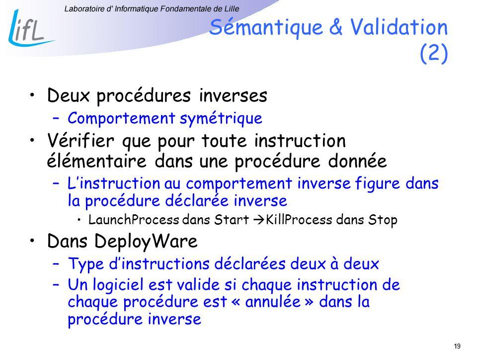 Sémantique & Validation (2)