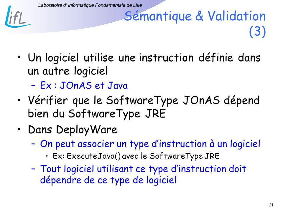 Sémantique & Validation (3)