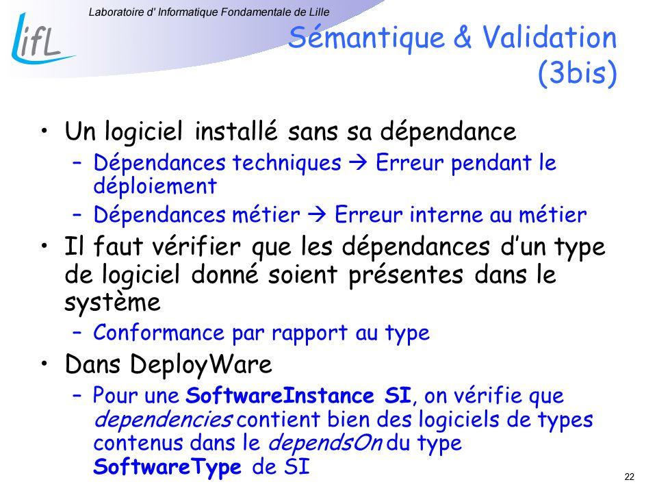 Sémantique & Validation (3bis)
