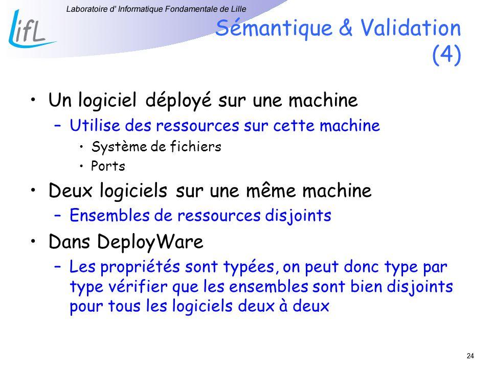 Sémantique & Validation (4)