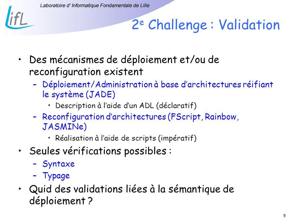 2e Challenge : Validation