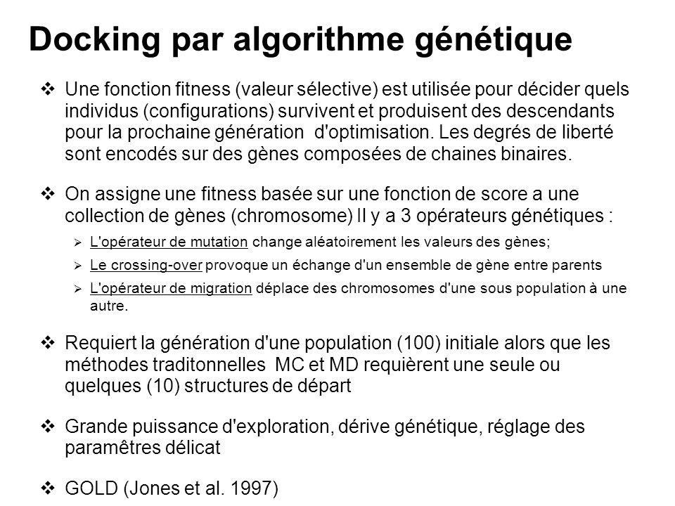 Docking par algorithme génétique