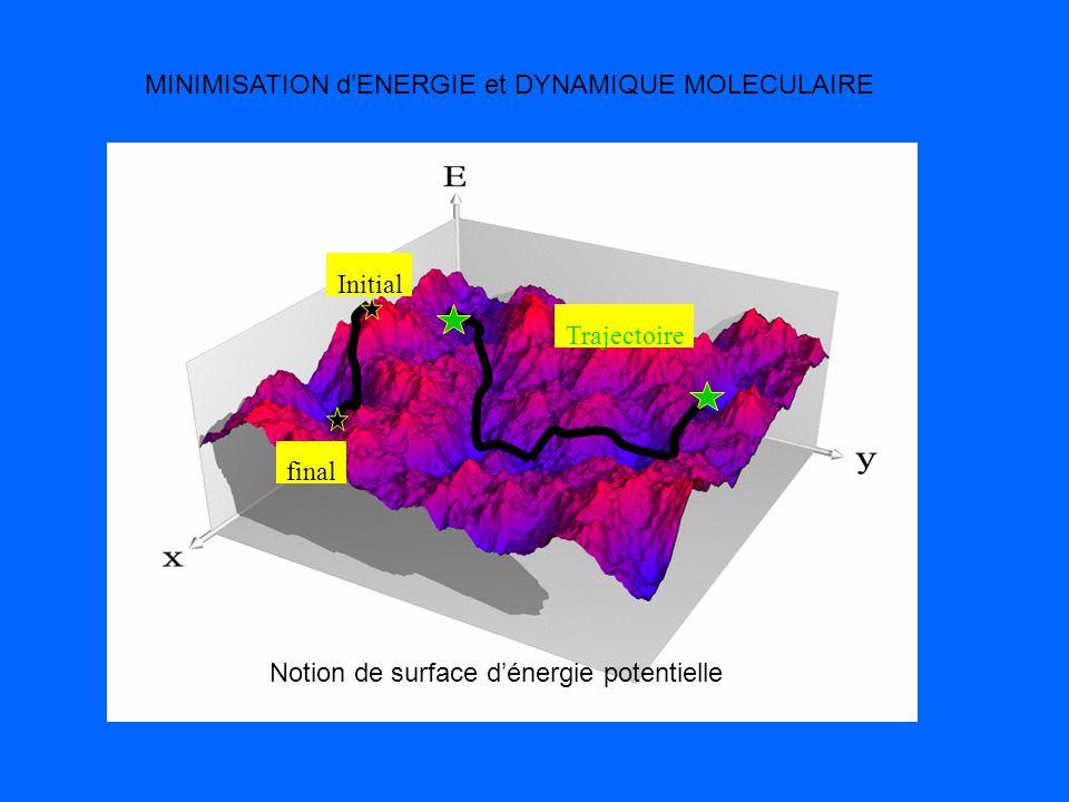 MINIMISATION d'ENERGIE et DYNAMIQUE MOLECULAIRE